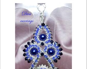 """TUTORIAL """"DIVA"""" earrings and pendant / orecchini e ciondolo"""