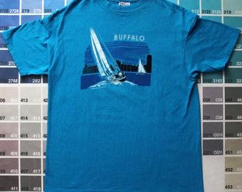 Vintage Buffalo NY shirt Buffalo New York vintage New York state shirt Vintage sailing t shirt