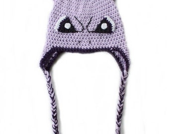 Mewtwo Hat   Mewtwo Costume   Mewtwo Comicon   MewTwo Hat with Tassels   Mewtwo Inspired Hat   Pokemon Hat   Pokemon Birthday