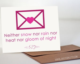 Post Office (USPS) Quote | Neither Snow Nor Rain