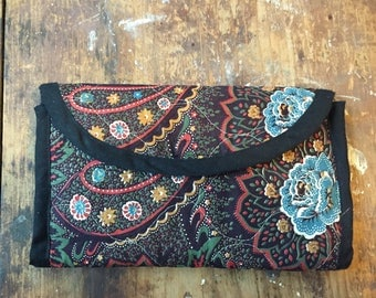 Vintage Fabric Jewelry Pouch