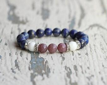 woman jewelry bracelet women gift for girlfriend beaded bracelet tourmaline lapis lazuli birthday gift for daughter wife handmade bohemian