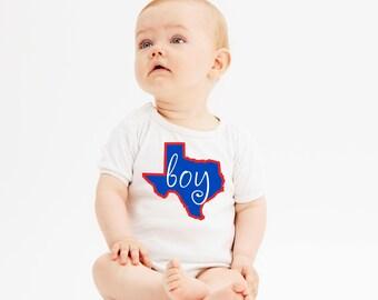 Texas Baby Clothes or Gerber Onesie®Texas Onesie® baby boy onesie®Texas Longhorn Baby University of Texas Texas Love Texas Map Baby Boy Gift