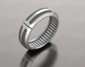geek wedding ring star wars wedding ring atompunk cyberpunk nerd ring - Star Wars Wedding Ring