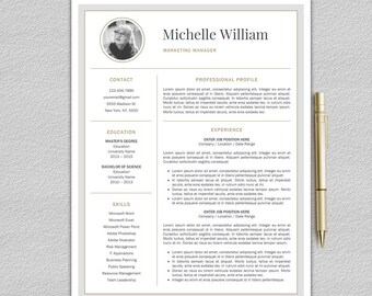 How To Do Your Resume Excel One Page Resume  Etsy Resumes Writing Tips Excel with Artist Resume Word Modern Resume Template  Professional Resume Template Word  Cv Template   Creative Resume Template  Resume Personal Skills Pdf