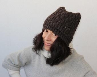 crochet wool hat hand made