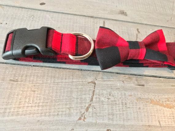 Buffalo Plaid DOG COLLAR, Made to Order, Buffalo Check, Cool COLLAR,  Gender Neutral Dog Collar, Cozy Collar