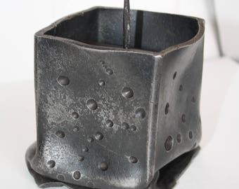 Forged Candle Holder, Metal Candle Holder, Candle Cup