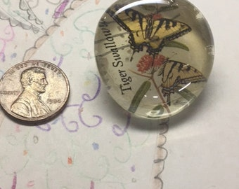 Tiger Swallowtail Postage Stamp Brooch