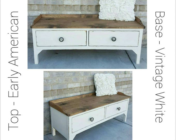 Bench - Wood Bench - Entryway Bench - Storage Bench - Front Porch Bench