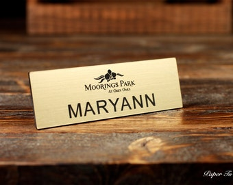 Name Tag Laser Cut/Engraved Personalized Magnetic Or Pin Backing Name Tags, Business, Event, Funny, Prank,