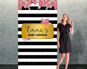 Baby Shower Photo Booth Backdrop - Bridal Shower Photo Backdrop - Wedding Custom Event Backdrop - Bridal Shower Photo Zone - Party Decor
