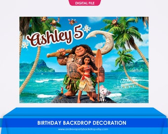 Moana Backdrop, Moana Banner, Moana Party, Moana birthday, Moana digital paper, Moana Decoration, Moana Poster, moana background, printables