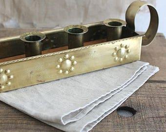 Vintage Swedish Brass Candle Holder