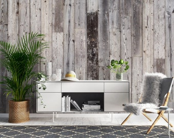 Weathered Timber Boards Wallpaper, Printed, Wall Decor, Removable Wallpaper, Timber, Timber look, Timber planks