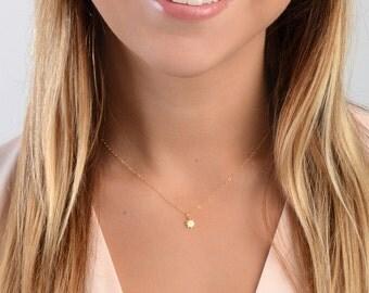 Tiny Sun Necklace, Starburst Necklace, Celestial Necklace, Delicate Star Necklace, Minimal Gold Necklace, Layering Necklace,Gold Fill,Silver