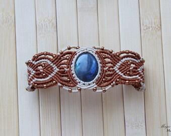 Labradorite micro macrame delicate beaded bracelet| Handmade jewelry| Original gifts for her| Healing gemstone| Throat Chakra|Japanese beads