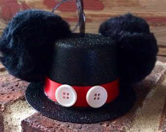 Mickey Mouse Inspired Top Hat Ornament