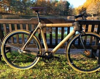Bicycle bamboo frame