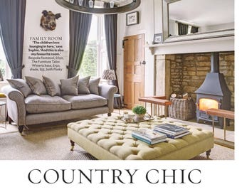 Extra Large Bespoke Square Handmade Upholstered Deep Buttoned Footstool - Made In Your Own Fabric