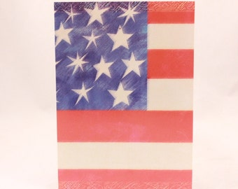 Sunrise Greetings American Flag Card and Envelope