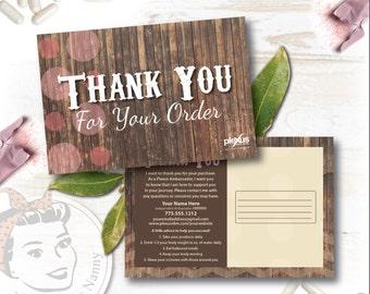 Plexus Thank you Postcard - Barnwood - Free Shipping