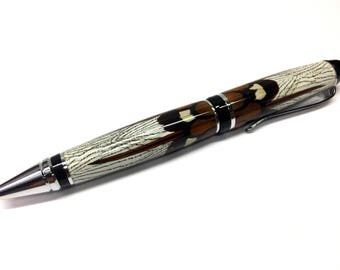 Amherst Pheasant Feathers,Handmade Pen,Hunter Outdoors Man, Fathers Day Gift, Mothers Day Gift, Gift For Him/Her
