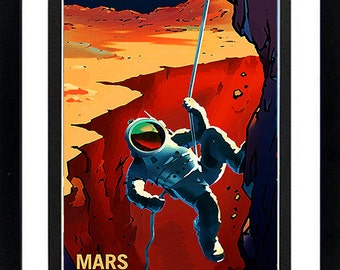NASA Poster Mars Explorers Wanted Framed Display Various Sizes