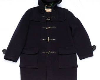 Gloverall Classic Duffle Coat - Warm Hooded Jacket - Size Tag 42 - Made in England - wool clothing clothes
