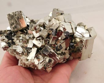 wOw A Huge! AAA PYRITE Crystal CUBE Cluster From the Huanzala Mine Peru 1340gr