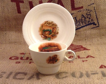 Western Themed Home and Hearth Vintage Tea or Coffee Cup and Saucer