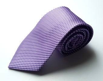 Men's Purple Pattern Neck Tie, Men's Neck Tie, Mens Pattern Tie