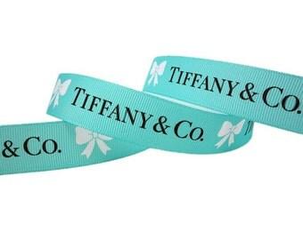 TIFFANY & CO. Blue Grosgrain Ribbon 7/8 inch