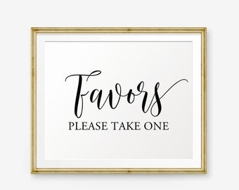 Wedding Favors Sign Printable, Please Take One, Wedding Sign, Wedding welcome sign, Wedding Sign, Wedding Decor, wedding reception sign