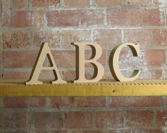 Wooden Alphabet Set 15cm / 6 inch tall free standing
