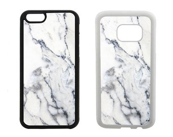 Marble Phone Case Samsung Galaxy S8 Plus, S7 S6 Edge, S5 S4, Note 5,  iPhone 8 7, 6, 6S, Plus, X SE 5C 5 5S 4 4S, rubber bumper cover. R290