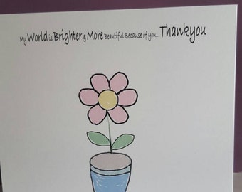 A beautiful Thank You card