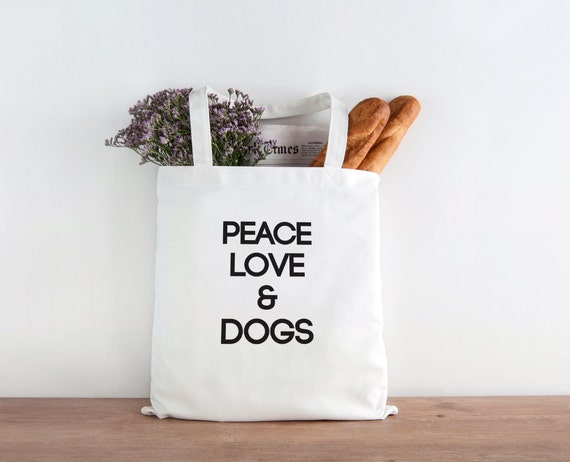 Peace love & Dogs, Dog, Dog person, Dog gift, animal lover, Christmas gift, Christmas present