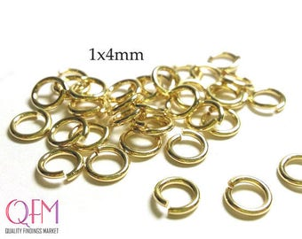 WHOLESALE Gold Filled Jump Rings 18 Gauge 1 x 4mm