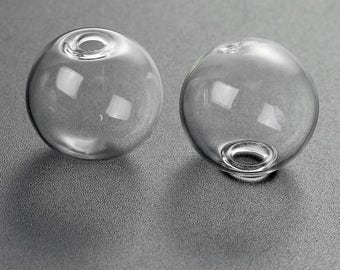 5 globes bubbles in glass 20mm