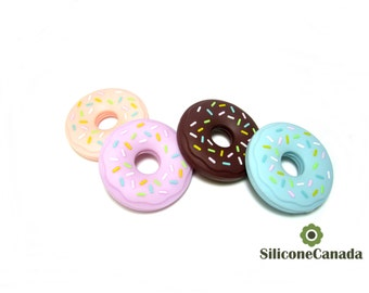 Large Sprinkle Donut Teether BPA Free FDA approved EN71 Passed CPSIA pass Baby Safe Teething Toy Wholesale Bulk Canada Baby Shower Gift