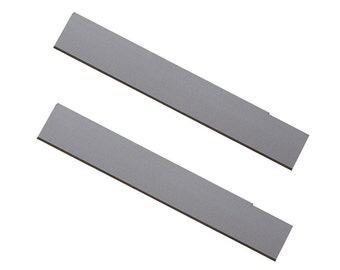 "Pack of 2 - 4-1/2"" Stainless Steel Tissue Cutter Blades Set Precious Metal Clay Cutting Jewelry Tool - KNF-282.50"