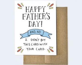 Card for Dad | Funny Dad Card | Father's Day Card | Funny Card for Dad