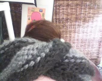 Knitted Messy Bun Moebius Mobius  Turban Headband