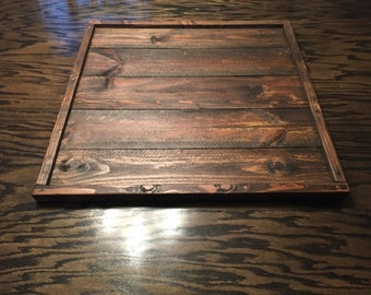 Country Primitive Rustic Ottoman Tray/ Serving Tray/ Centerpiece