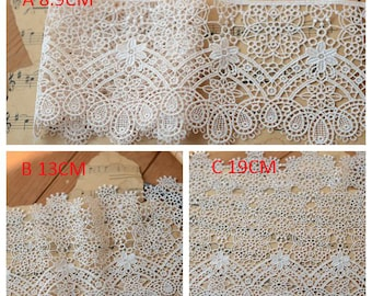 5 meter 8.9-19cm wide light pink fabric embroidered tapes lace trim ribbon clothes dress lace fabric L7H251 free ship