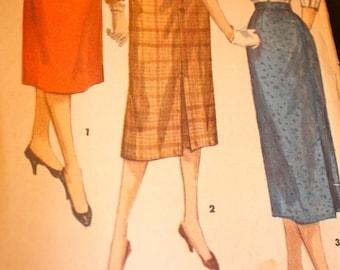 "Great Vintage ""One Yard Skirt"" Pattern---Simplicity 1345---Size Waist 24"" Hip 31  UNCUT"