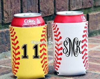 Personalized Softball/Baseball Can Cozy