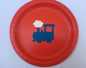 Train Party Plates, Train Birthday party Plates