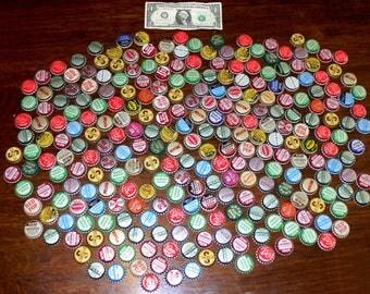 Vintage bottle caps lot-metal bottle caps-Old soda bottle caps-260 pop bottle caps lot-bottle cap jewelry-cork and plain caps lot-cola more